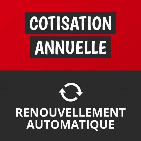 Cotisation annuelle - renouvellement automatique